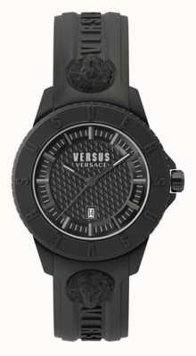 Versus Versace Tokyo r | cadran noir | bracelet en silicone noir VSP0Y2318