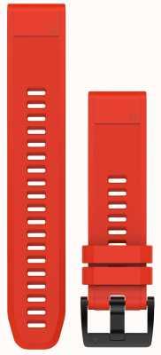 Garmin Bracelet caoutchouc rouge flamme quickfit 22mm fenix 5 / instinct 010-12496-03