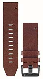 Garmin Bracelet en cuir marron quickfit 22mm fenix 5 / instinct 010-12496-05
