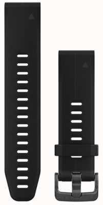 Garmin Bracelet caoutchouc noir quickfit 20mm fenix 5s 010-12739-00