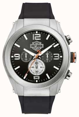 Harley Davidson Bracelet pour homme chronographe avec cadran noir 76B176
