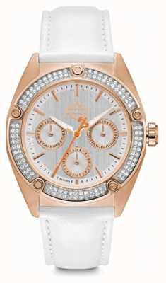 Harley Davidson | femmes | cristal | bracelet en cuir blanc | 78N102