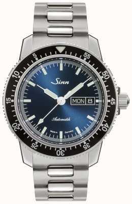 Sinn 104 st sa ib | bracelet en acier inoxydable | cadran bleu 104.013-BM1040104S