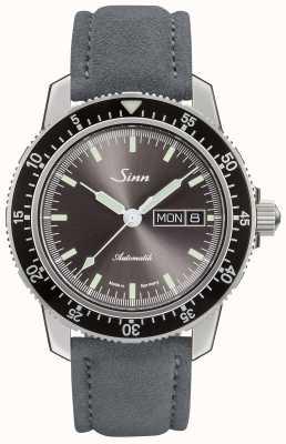 Sinn 104 st sa ia | bracelet en cuir gris daim 104.014 SUEDE GREY
