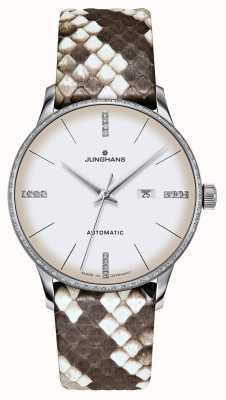 Junghans Meister damen automatique | diamants | sangles en python et lézard 027/4847.00