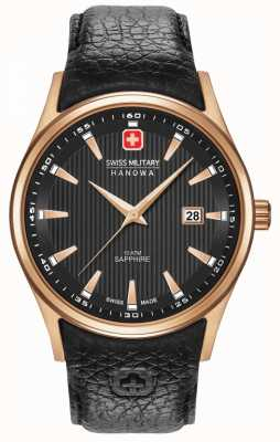 Swiss Military Hanowa Mens | or rose | bracelet noir 06-4286.09.007