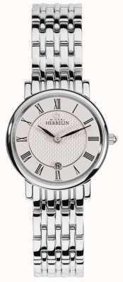 Michel Herbelin | les femmes | epsilon | cadran blanc | bracelet en acier inoxydable | 16945/B01