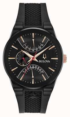 Bulova Bracelet en caoutchouc chronographe édition Grammy 98B321
