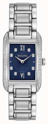 Bulova Bracelet en acier inoxydable serti de diamants pour femmes 96R211