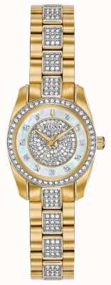 Bulova Bracelet deux tons sertis de cristaux pour femmes 98L241