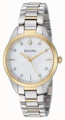Bulova Étui bicolore en diamants pour femme 98P184