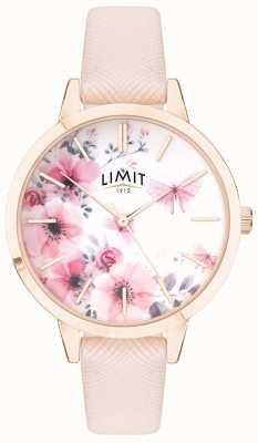 Limit | jardin secret des femmes | cadran floral rose et blanc | strp rose 60023