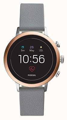 Fossil Connecté q venture hr montre intelligente gris bracelet en silicone FTW6016