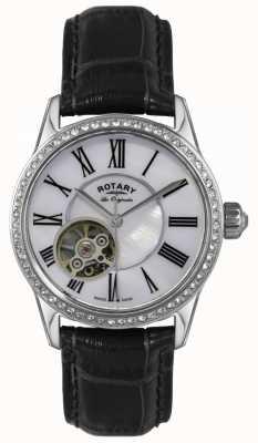 Rotary Femmes | les originales | automatique | bracelet en cuir noir LS90511/38