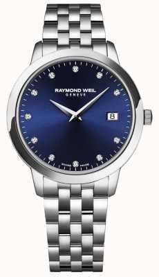 Raymond Weil Toccata femme | cadran bleu | bracelet en acier inoxydable 5988-ST-50081