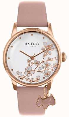 Radley Femmes | fleur de fuite | bracelet en cuir rose RY2692