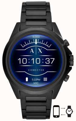 Armani Exchange Drexler noir | acier inoxydable | montre intelligente AXT2002