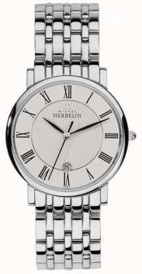 Michel Herbelin Classiques en acier inoxydable classiques pour hommes 12543/B01