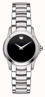 Movado | montre militaire en acier pour femmes | cadran noir | 0605870
