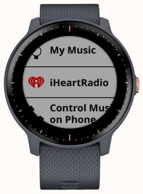 Garmin Vivoactive 3 musique hr gps montre-bracelet à quartz bleu or rose 010-01985-32