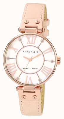 Anne Klein | montre femme signature | cuir nude | 10-N9918RGLP