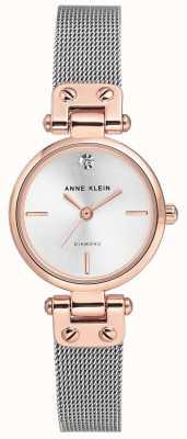 Anne Klein | montre de câble de femmes | ton argent | AK/N3003SVRT