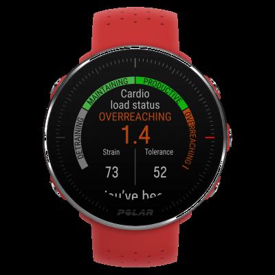 Polar | montre rouge vantage m | bracelet rouge | m / l 90069747