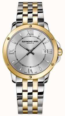 Raymond Weil Tango pour hommes | bracelet en acier inoxydable deux tons | cadran argenté 5591-STP-00308