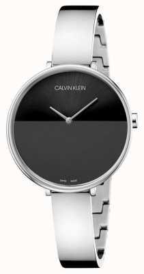 Calvin Klein | bracelet en acier inoxydable pour femmes | cadran noir | K7A23141