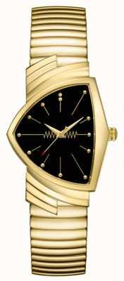 Hamilton | montre à quartz ventura | cadran noir | bracelet souple | H24301131