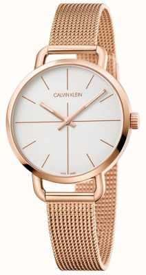 Calvin Klein | montre d'extension femme | maille inoxydable or rose | K7B23626