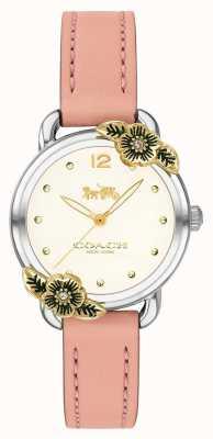 Coach | montre femme delancey | cuir rose et acier inoxydable | 14503239