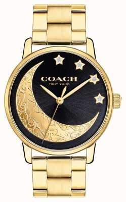 Coach | grande montre femme | or avec des détails de lune sur le visage | 14503278
