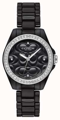 Coach | montre de sport moderne | visage noir | bracelet noir | 14503255
