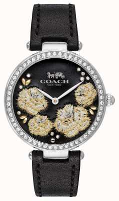 Coach | montre de parc pour femmes | bracelet en cuir noir cadran noir 14503283