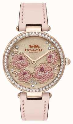 Coach | montre de parc pour femmes | bracelet en cuir rose | 14503285