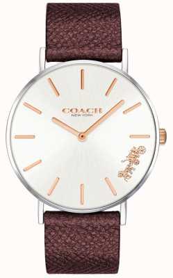 Coach | montre femme perry | bracelet en cuir rouge | 14503154