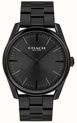 Coach Mens moderne luxe noir en acier inoxydable 14602403