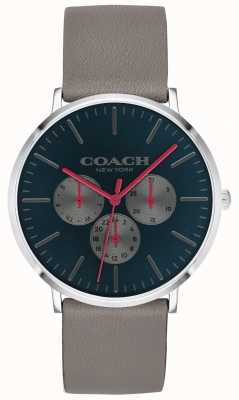 Coach | montre homme varick | bracelet chronographe beige avec cadran noir | 14602390