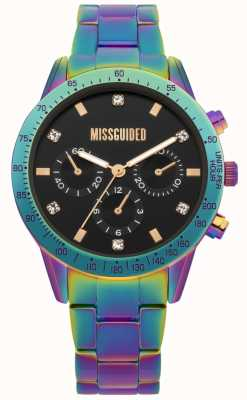 Missguided | montre femme | acier inoxydable multicolore | MG004UPM