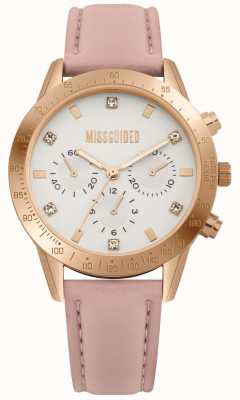 Missguided | montre femme | bracelet en cuir rose | MG004PRG