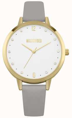 Missguided | montre femme | bracelet en cuir gris boitier doré | MG010EG