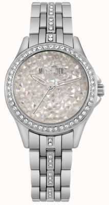 Missguided | montre femme en acier inoxydable | cadran en pierre d'argent | MG013SM