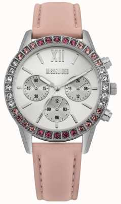 Missguided | montre femme | bracelet en cuir rose | MG015P