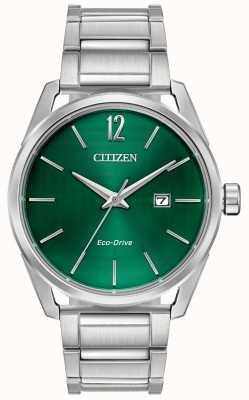 Citizen Bracelet homme eco-drive en métal cadran vert BM7410-51X