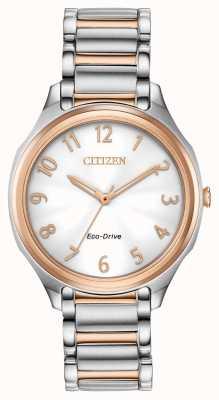 Citizen Bracelet en métal bicolore Eco-Drive pour femme EM0756-53A