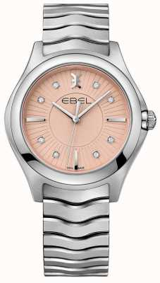 EBEL Bracelet Wave en acier inoxydable cadran rose 1216303