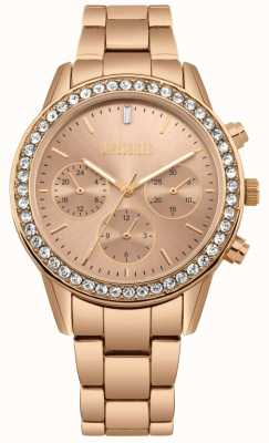 Missguided | acier inoxydable pour femmes en or rose | cadran rose | chronographe MG002RGM