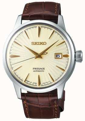 Seiko | hommes | présage | automatique | bracelet en cuir marron | SRPC99J1
