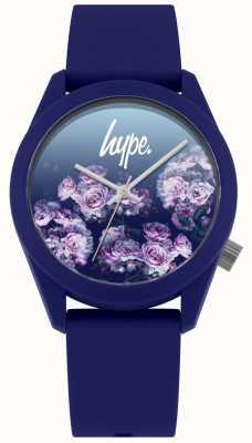 Hype | bracelet en silicone marine | cadran fleur marine | HYU010U